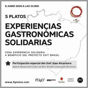 Cena gastronómica solidaria 8 de Junio 2016